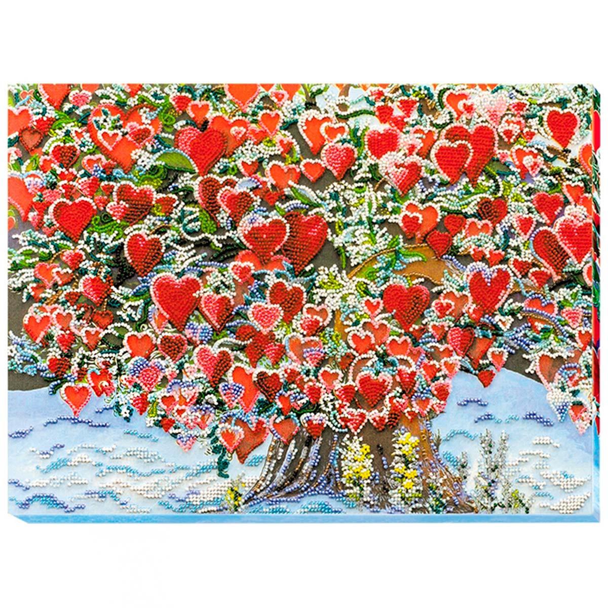АВ-607 Набор для вышивания бисером 'Дерево любви' 37*27см