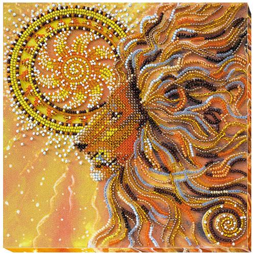 АМВ-021 Набор для вышивания бисером 'Солнцелев' 20*20см