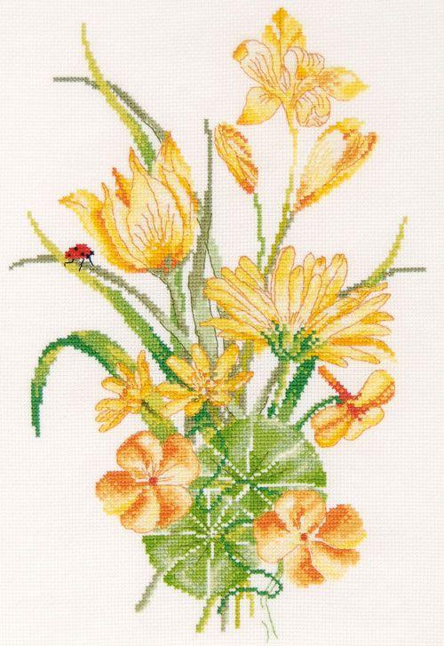 BK869 Набор для вышивания DMC 'Желтый букет' 20*30 см