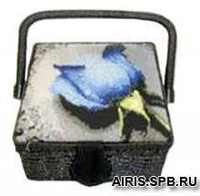 04-RDC Шкатулка РТО с вышивкой 20*20*10см
