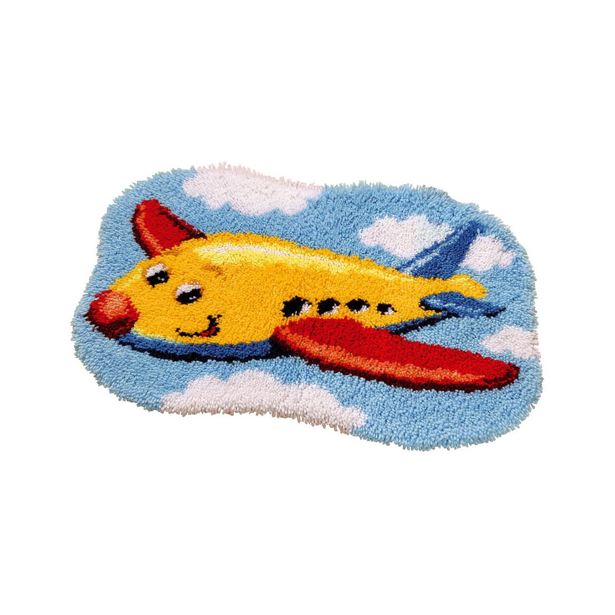 0014369-PN Коврик (ковровая техника) Vervaco 'Самолет' 70x50 см