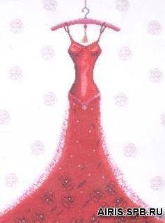 2488 Комплект для вышивания Design Works'Великолепие вечера' 32,5*42,5 см
