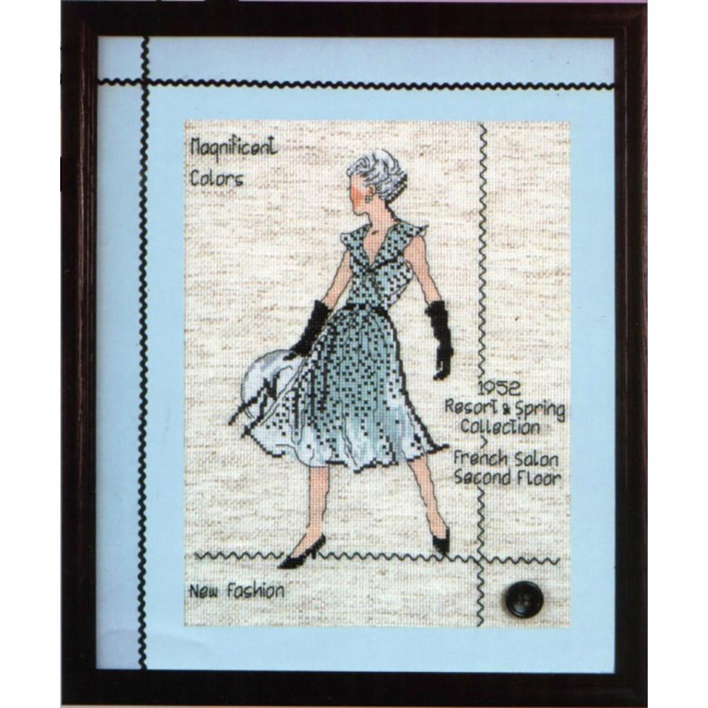 2407 Комплект для вышивания Design Works 'Пара модниц' 22,5*30 см