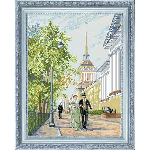 21110 Набор для вышивания Краса и творчество 'Адмиралтейство' 40*52,4 см
