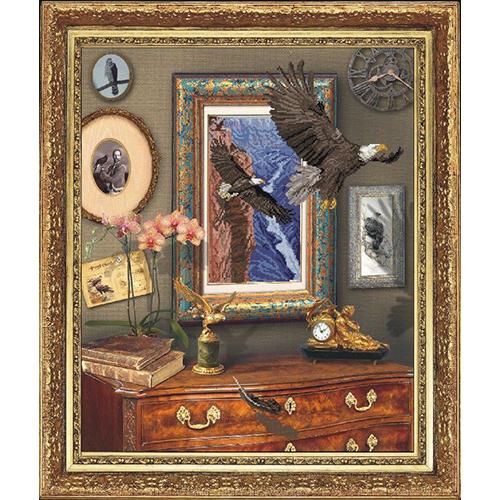 20111 Канва с рисунком для вышивки Краса и творчество 'Полет орла' 46,8*57,4см (без мулине)