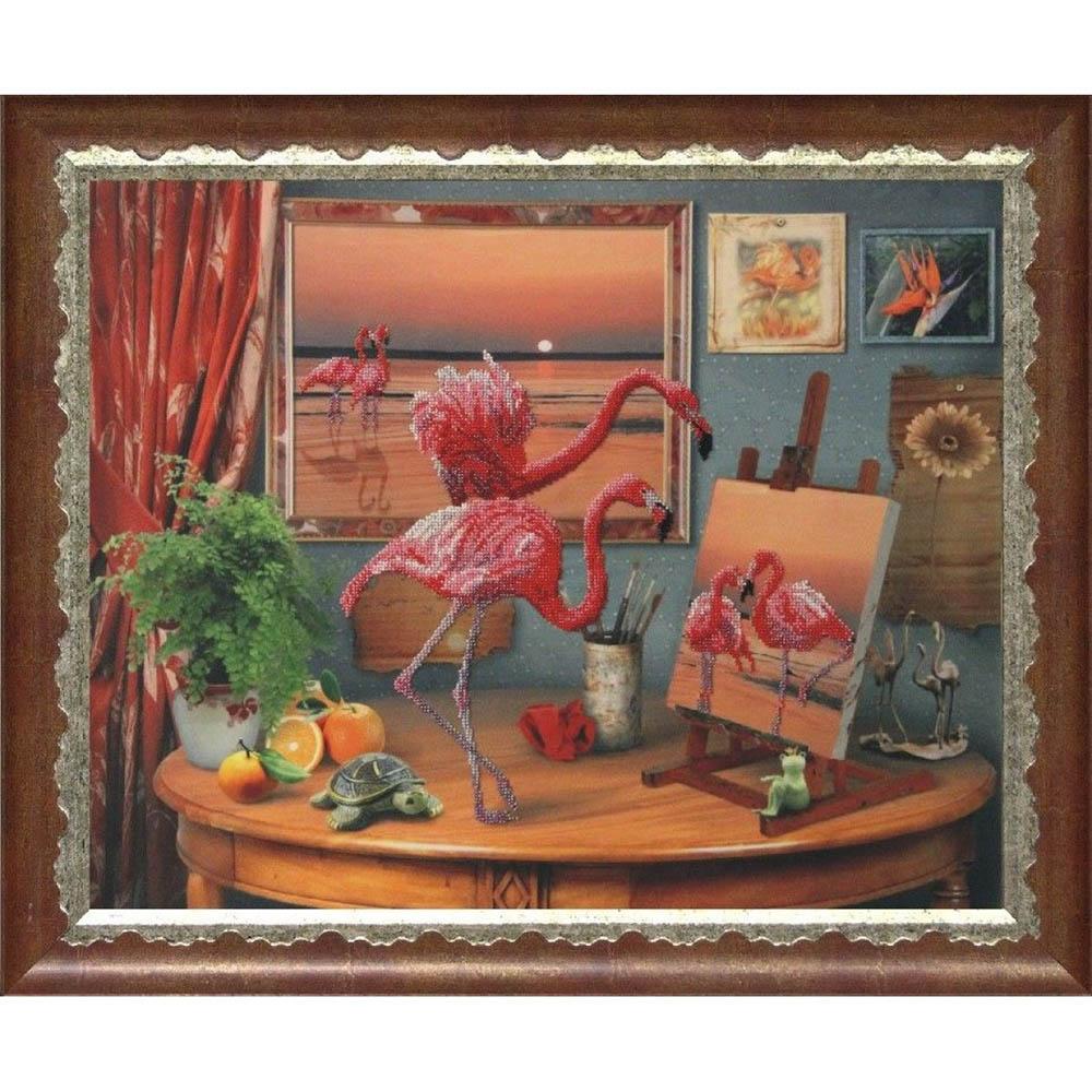 10511 Набор для вышивания бисером Краса и творчество 'Фантазии моря' 47*59 см