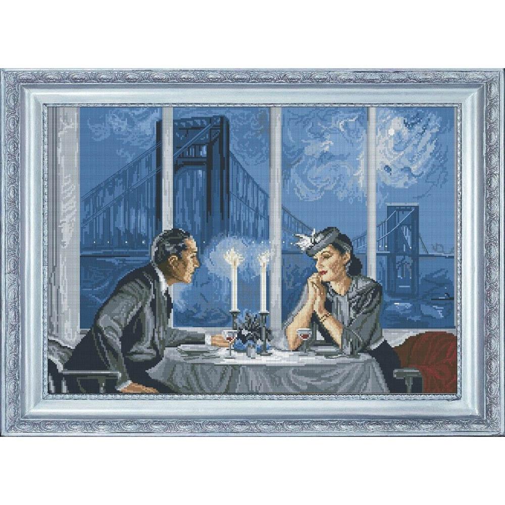 10611 Набор для вышивания Краса и творчество 'Хрустальный вечер' 48,7*36,3 см