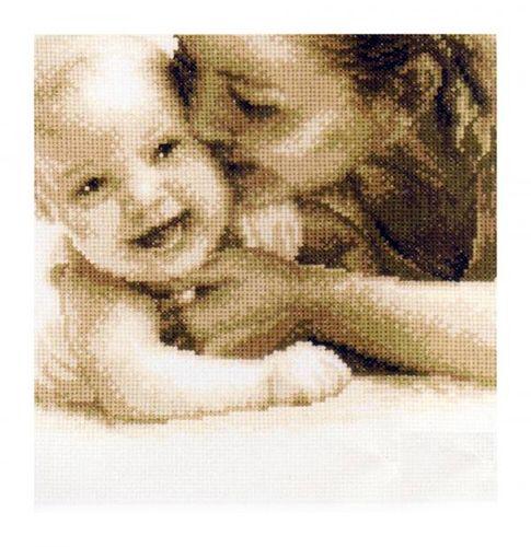 0143732-PN Набор для вышивания Vervaco 'Мама и малыш' 23x20см