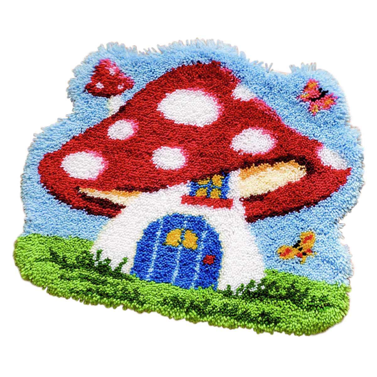 0143942-PN Коврик (ковровая техника) Vervaco 'Мухомор' 55x50 см