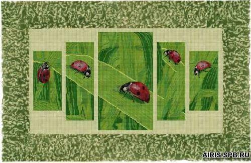 40712 Набор для вышивания бисером Краса и творчество 'Небесные посланники' 70,5*38,6 см