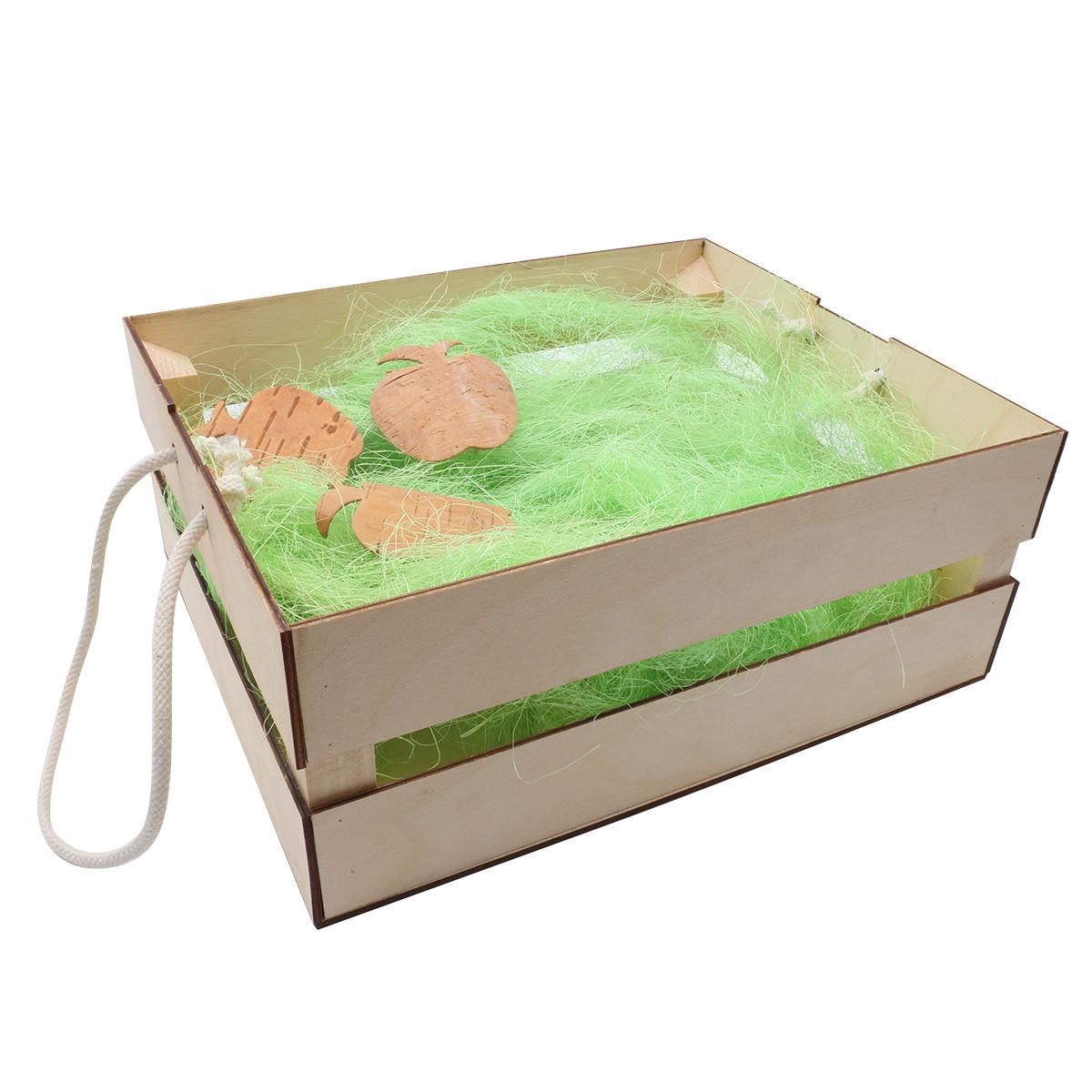 Деревянный ящик для оформления подарка с наполнением №2, 20*25 см