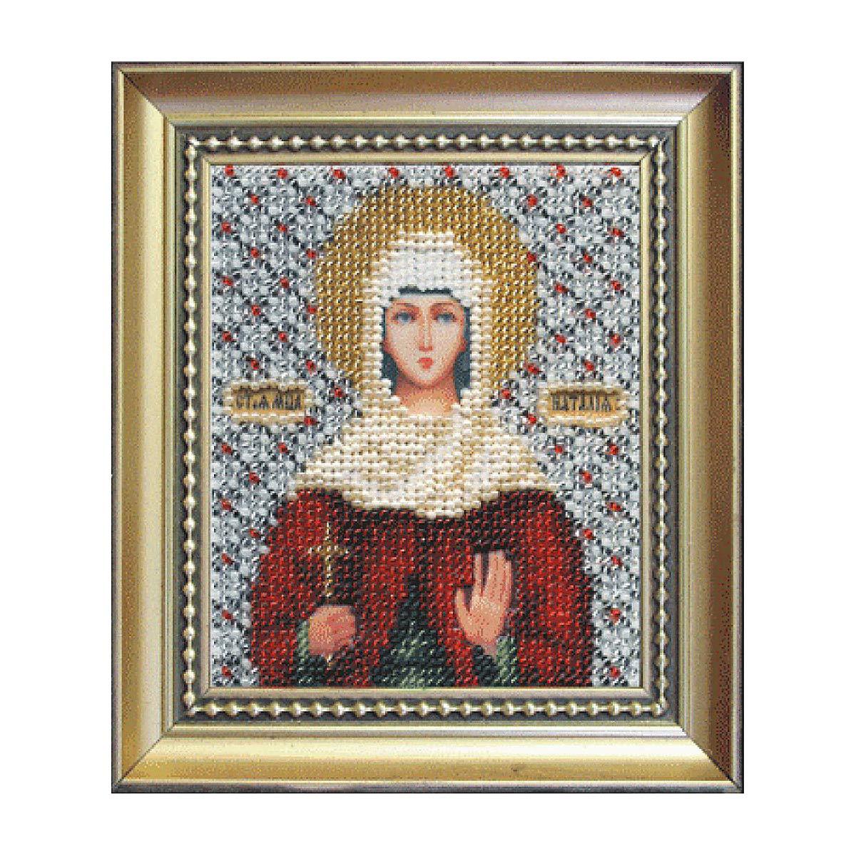 Б-1027 Набор для вышивания бисером 'Чарівна Мить' 'Икона святая мученица Наталия', 11*9 см