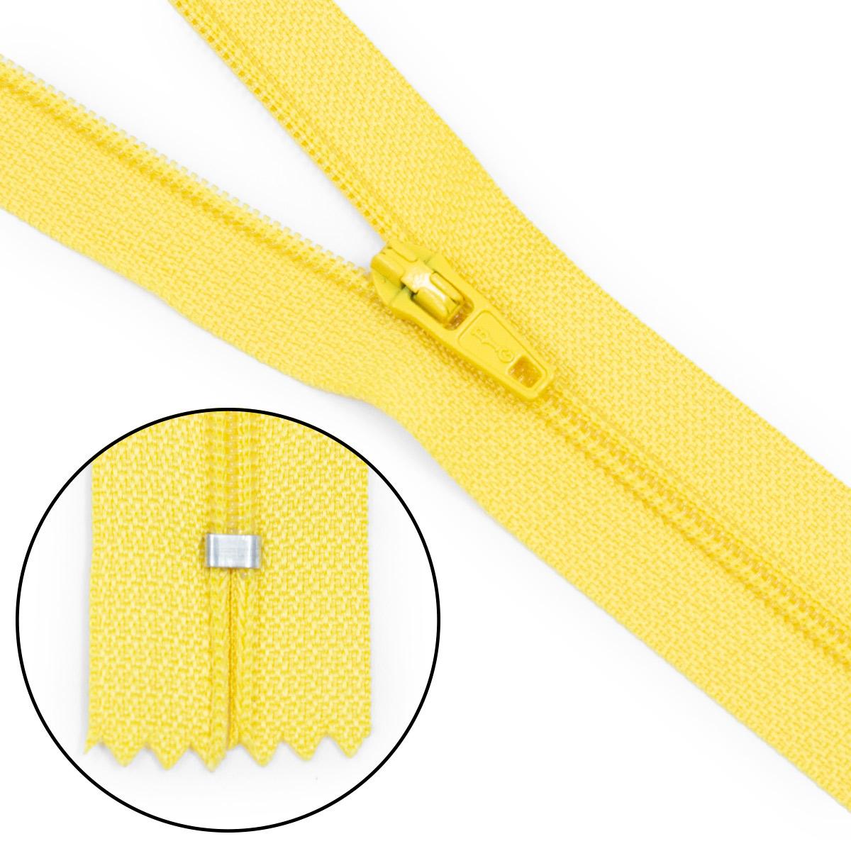 30113 Молния брючная пл/мет тип-3 яр.желт. авт.