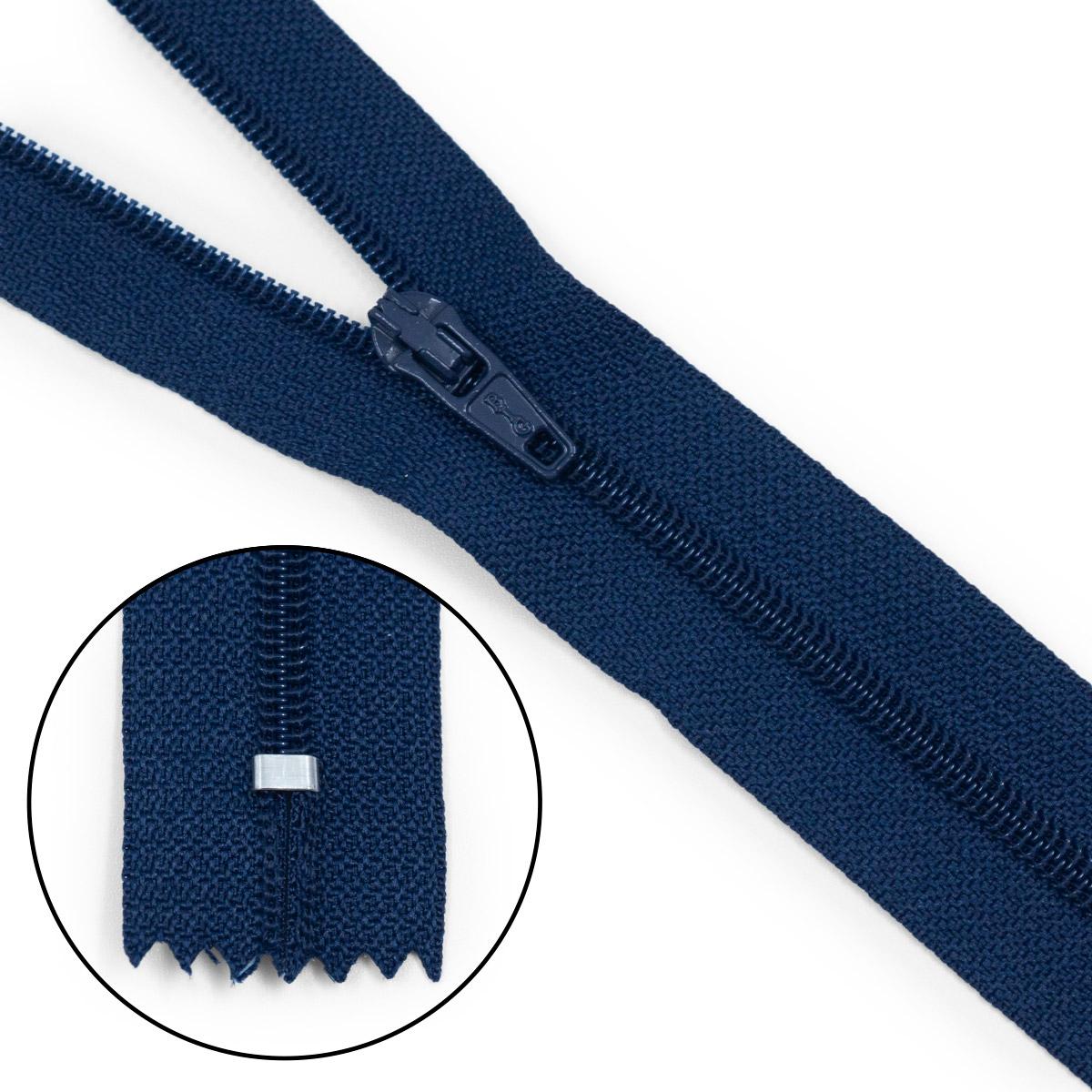 30093 Молния пластиковая т.син тип-3 авт 20см