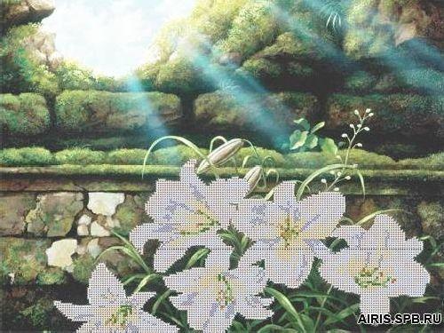 71028 Канва с рисунком Gluriya 'Лилии' 42*27,7 см