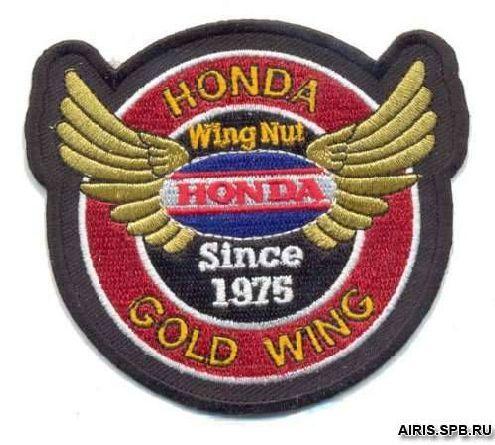 AD1083 Термоаппликация Honda (золотой ветер), d 8,7 см, Hobby&Pro