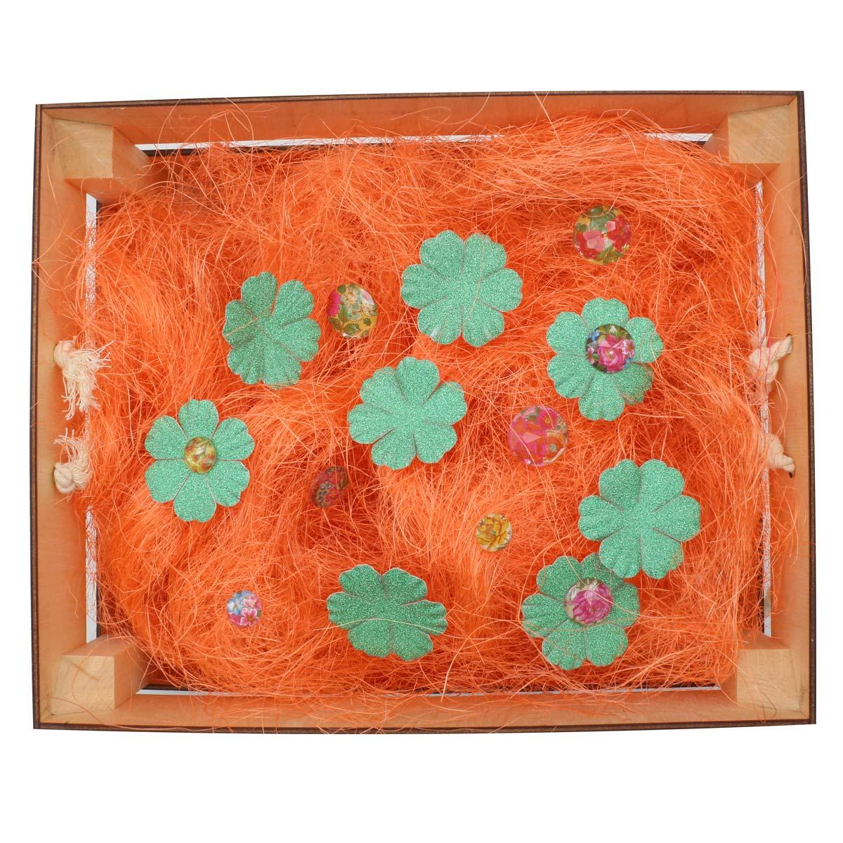 Деревянный ящик для оформления подарка с наполнением №6, 25*30 см