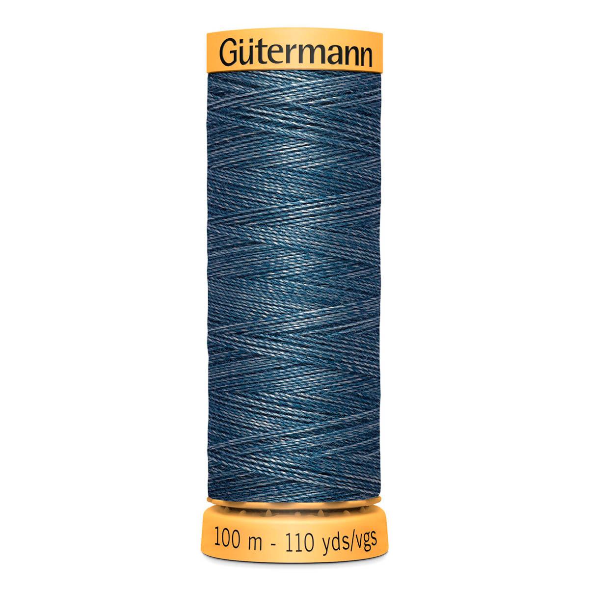744476 Нить Jeans джинсовая для штопки, 100м, 70% полиэстер, 30% хлопок Гутерманн