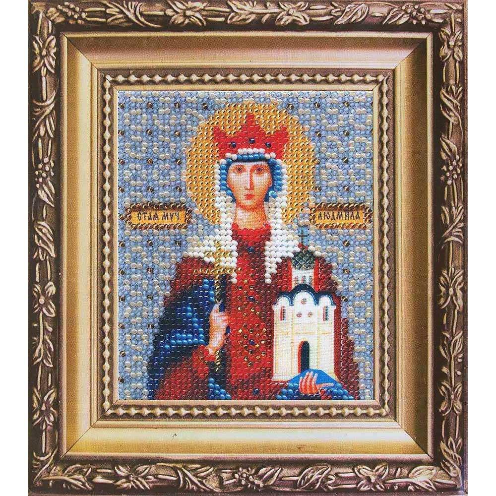 Б-1041 Набор для вышивания бисером 'Чарівна Мить' 'Икона святая мученица Людмила', 11*9 см