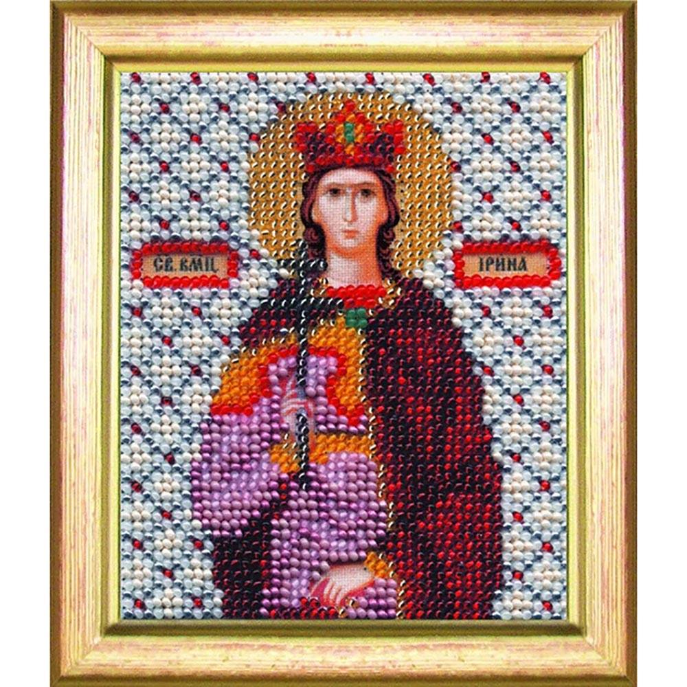 Б-1047 Набор для вышивания бисером 'Чарівна Мить' 'Икона святая мученица Ирина', 11*9 см