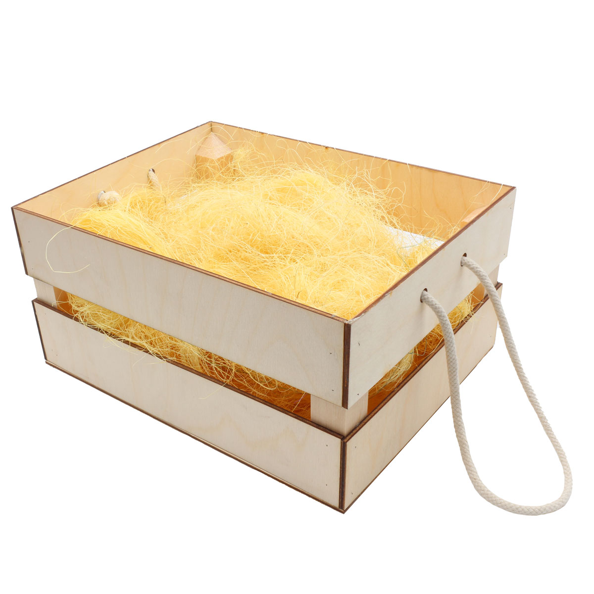 Деревянный ящик для оформления подарка с наполнением №9, 20*25 см