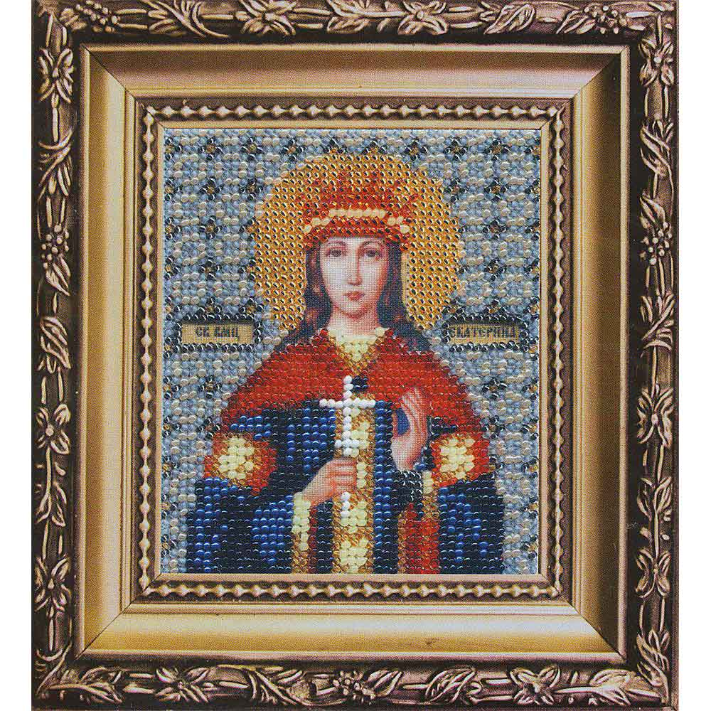 Б-1049 Набор для вышивания бисером 'Чарівна Мить' 'Икона святой мученицы Екатерины', 11*9 см
