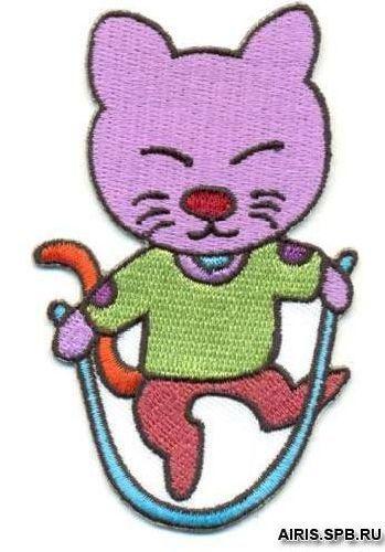 Термоаппликация AD1091 Кот со скакалкой Hobby&Pro