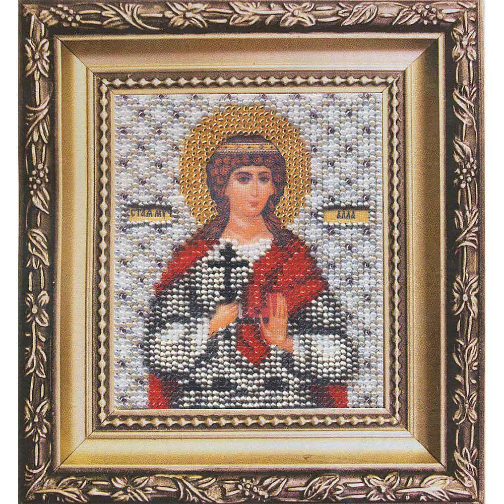 Б-1055 Набор для вышивания бисером 'Чарівна Мить' 'Икона святая мученица Алла', 11*9 см