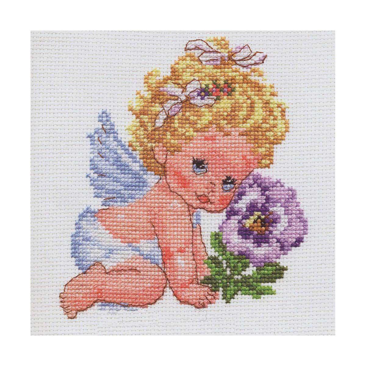 0-14 Набор для вышивания АЛИСА 'Ангелок счастья' 12*14см