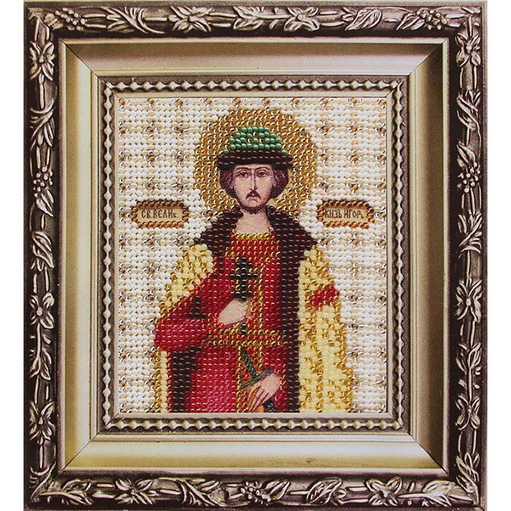 Б-1065 Набор для вышивания бисером 'Чарівна Мить' 'Икона великий князь Игорь', 11*9 см