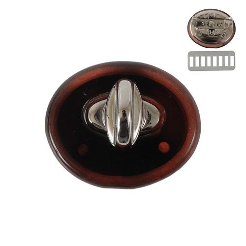 Р 4934 Застежка поворотная 36*30мм, пл+никель