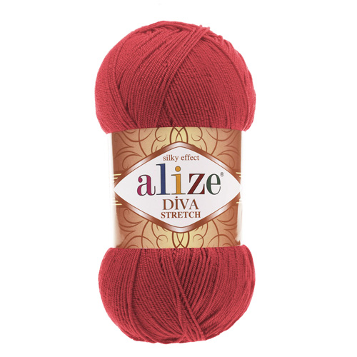 "Пряжа  ALIZE ""Diva stretch"" 400м./100г. сирень микроакрил 92%; эластик 8%"