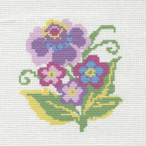 2/НП Наборы для вышивания нитками с паспарту Hobby&Pro 'Цветочный мотив' 20*20см