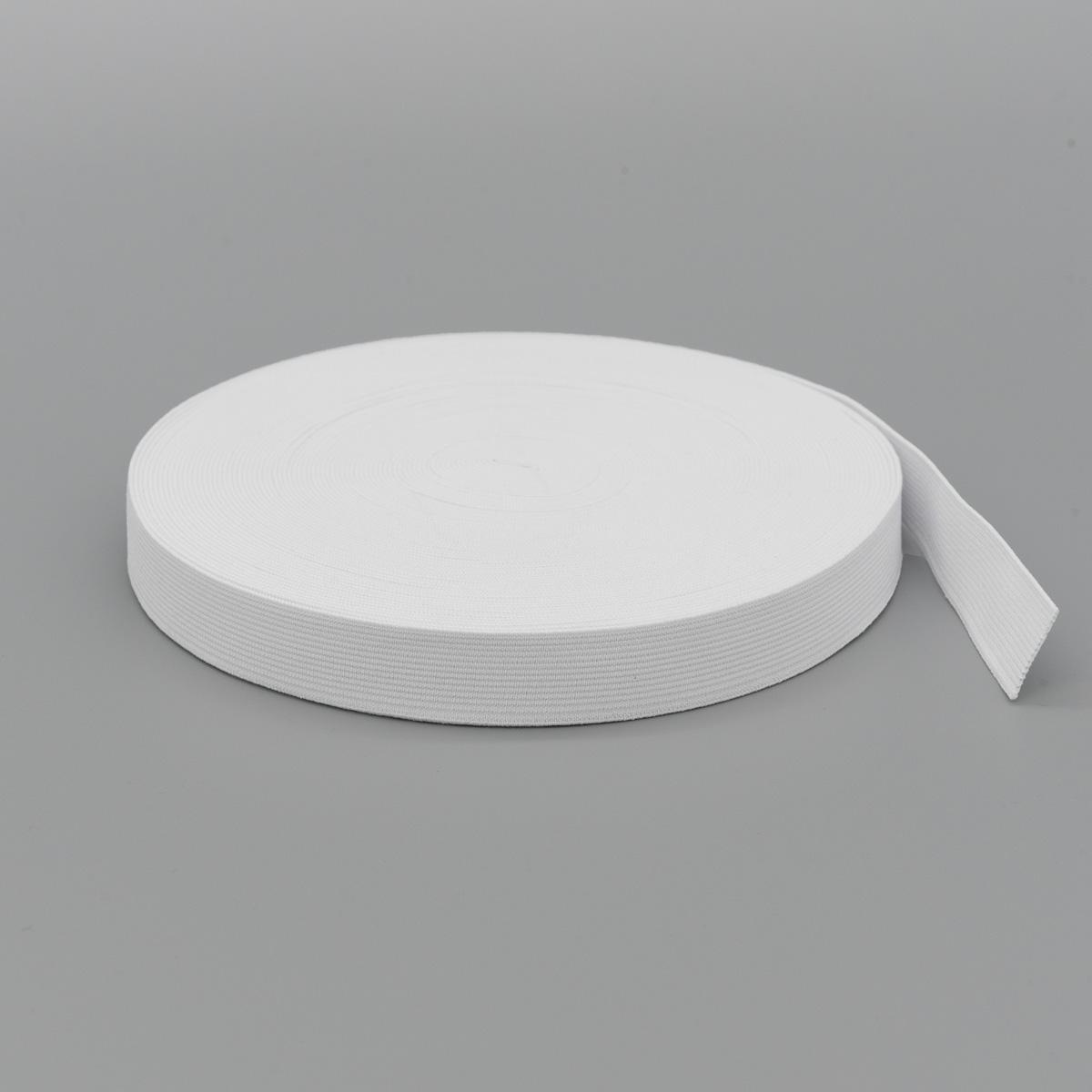 Тесьма эластичная 04СР20, белая