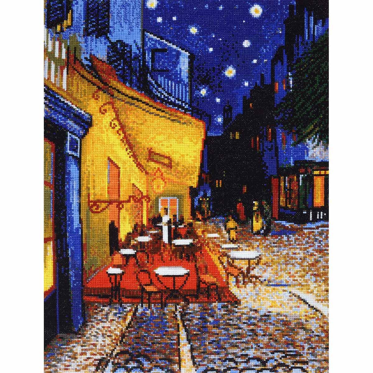 977 Набор для вышивания Hobby&Pro «Ночная терраса кафе» 23*30 см