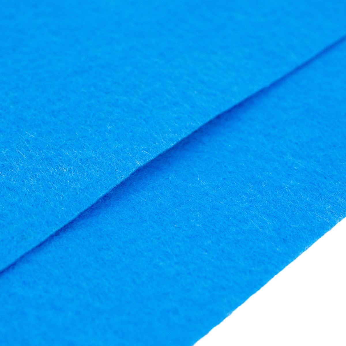 26954 Фетр жёсткий 1,0мм, 20*30 см, 100 % п/э, уп/2шт, т.голубой