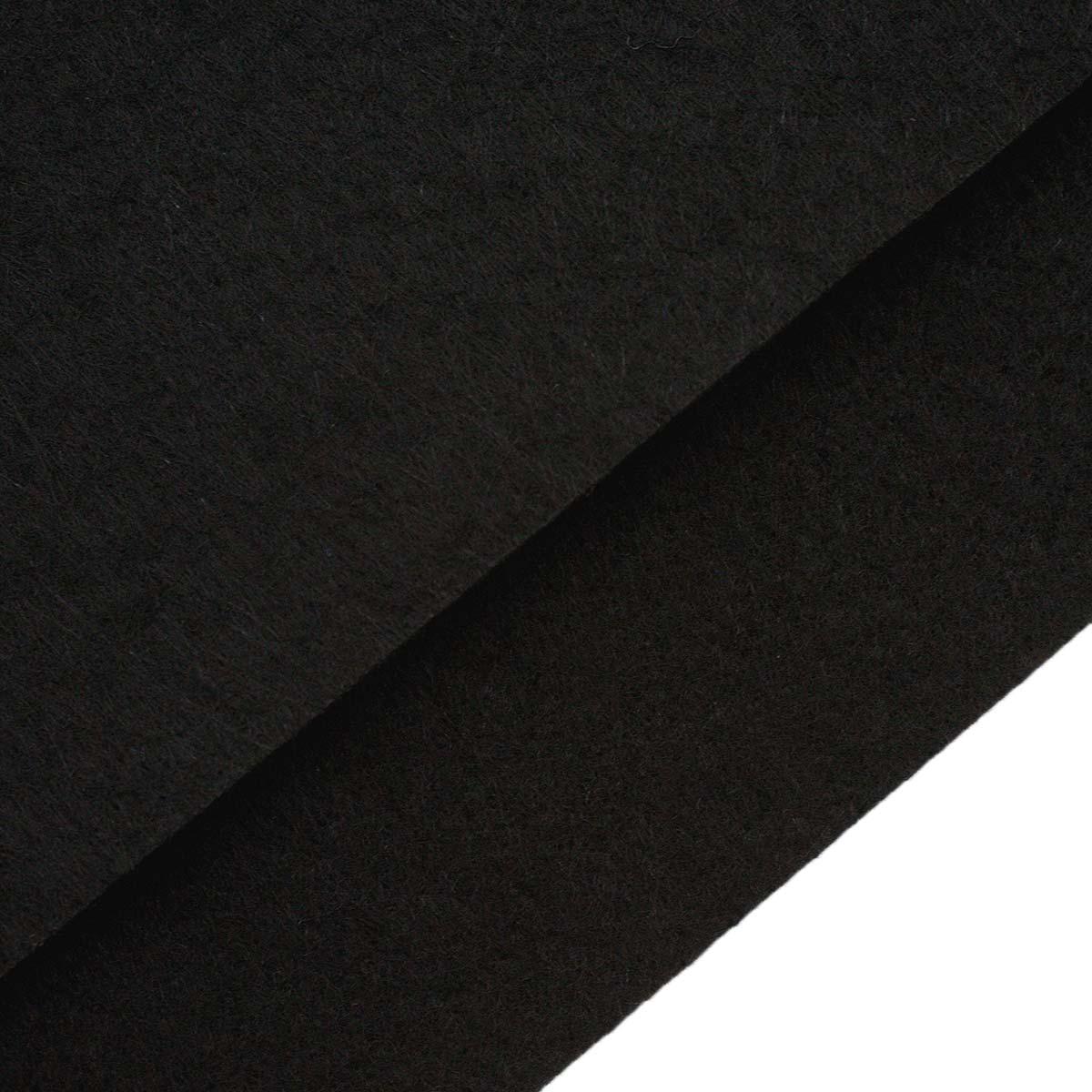 26953 Фетр жёсткий 1,0мм, 20*30 см, 100 % п/э, уп/2шт, черный