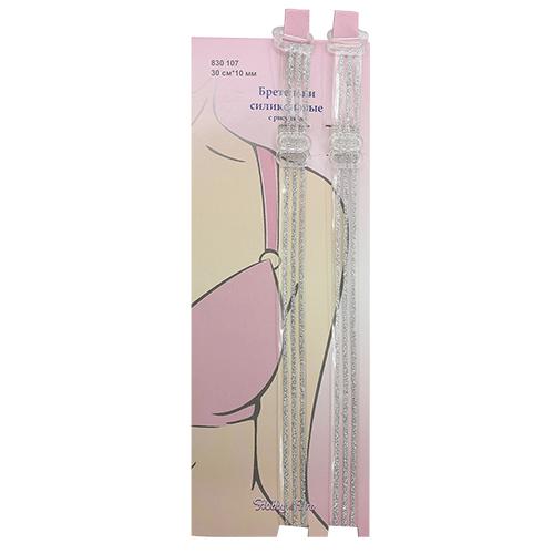 830107 Бретельки силиконовые с рисунком, 30 см*10 мм, упак./2 шт., Hobby&Pro