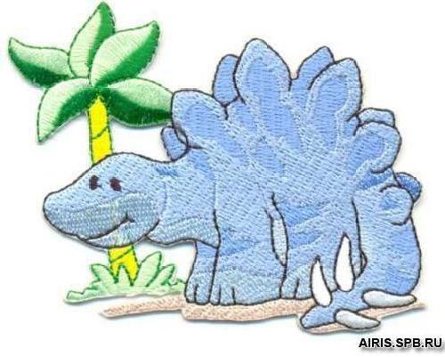 AD1112 Термоаппликация 'Динозавр под пальмой', 6*8 см, Hobby&Pro