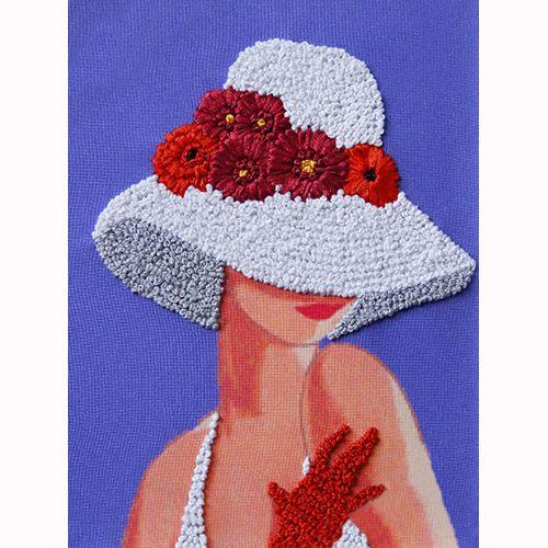 ВЛШС0003 Набор для вышивания лентами Woman-Hobby 'Серия шляпки №3' 18,5*25 см