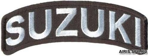 AD1122 Термоаппликация Suzuki, 3,5*9,5 см, Hobby&Pro