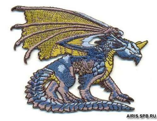AD1125 Термоаппликация 'Крылатый дракон', 7*8 см, Hobby&Pro