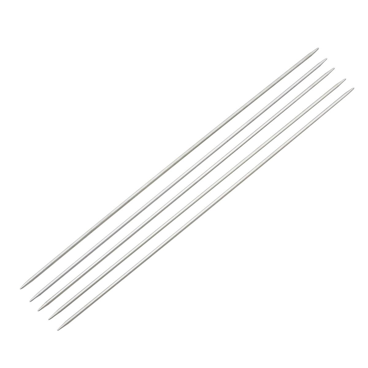 Спицы носочные алюминиевые с покрытием 940520/940502, 20 см, 2,0 мм, Hobby&Pro