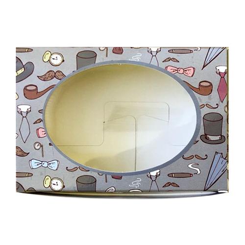 Декоративная упаковка 'Шляпы и сигары' (коробочка с окошком) 15,5*11*4см