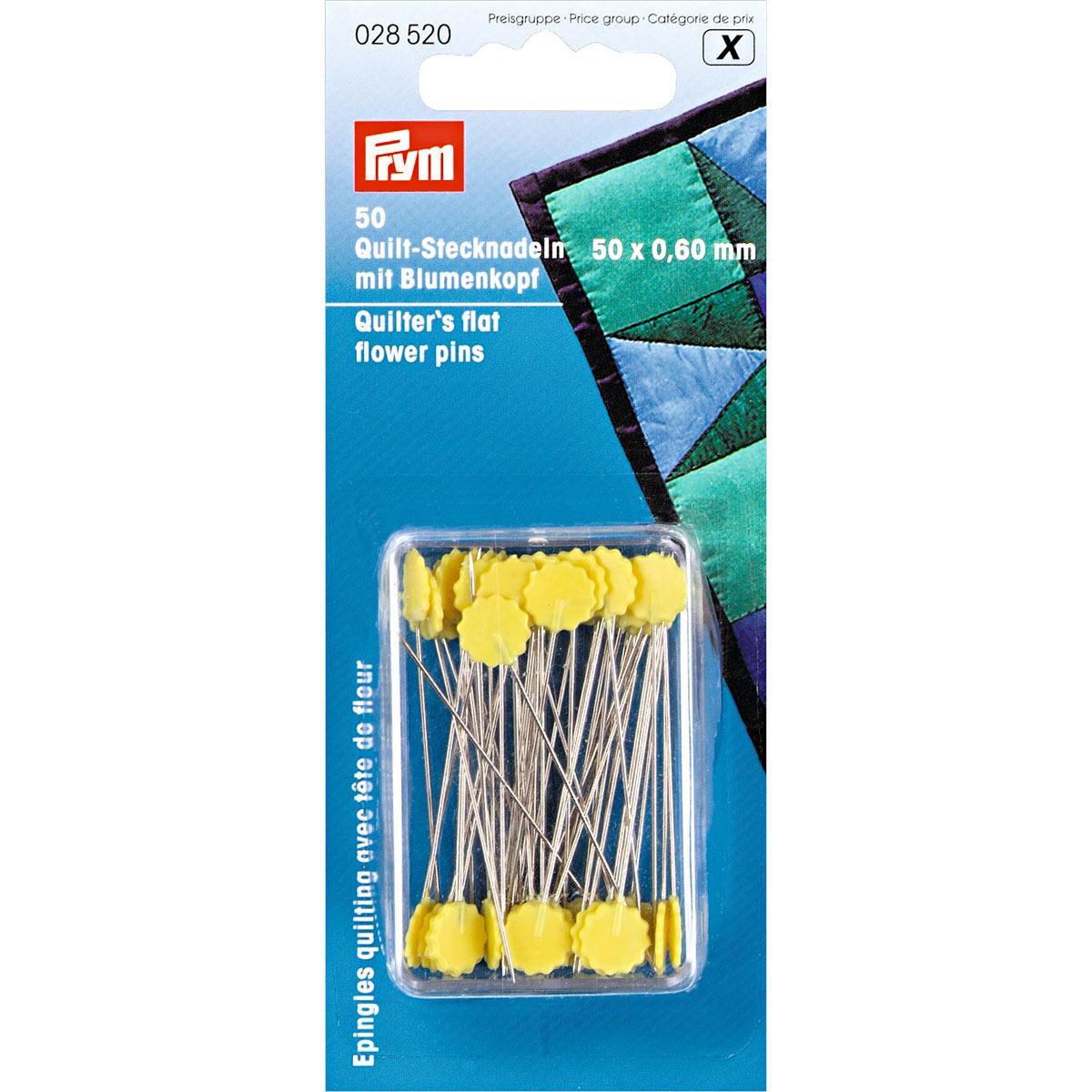 028520 Булавки для квилтинга с головкой в форме цветка 0,60*50мм Prym