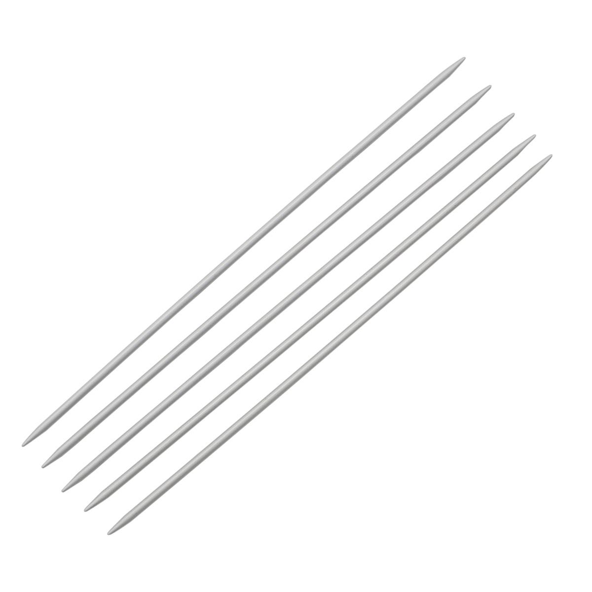 Спицы носочные алюминиевые с покрытием 940530/940503, 20 см, 3,0 мм, Hobby&Pro