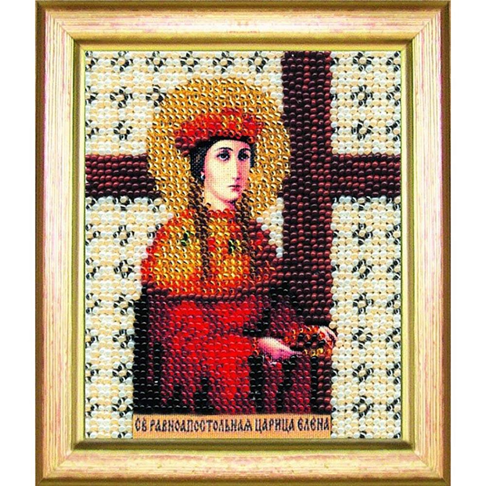 Б-1033 Набор для вышивания бисером 'Чарівна Мить' 'Икона святая равноапостольная царица Елена', 11*9 см