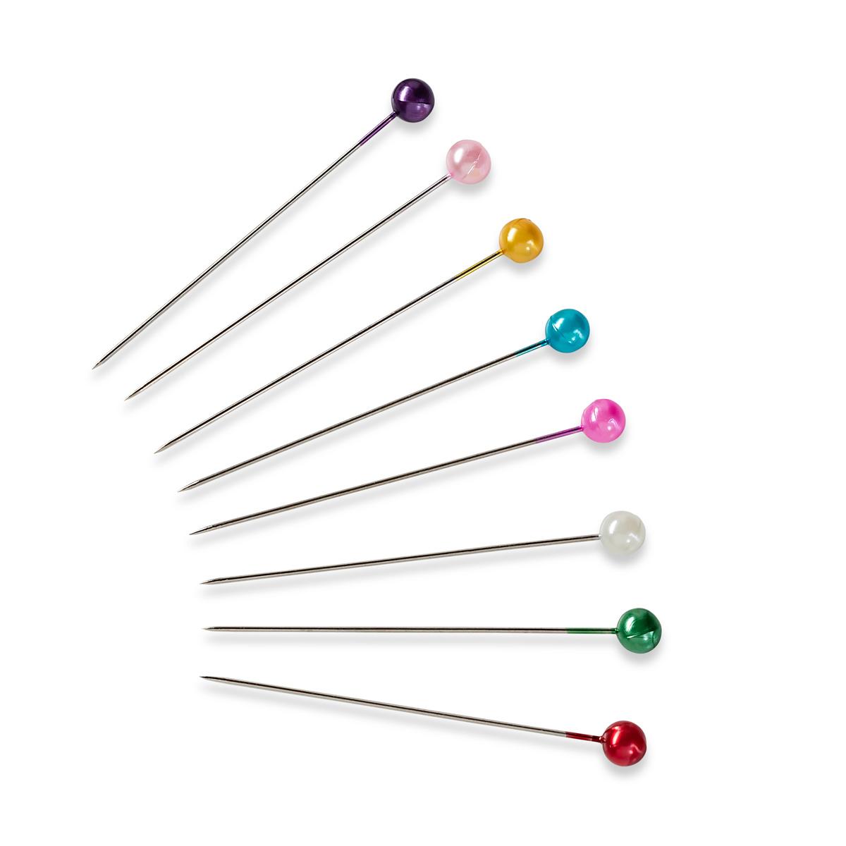 028625 Булавки с жемчужной головкой, разноцветные 0,58*40мм, 10g, Prym