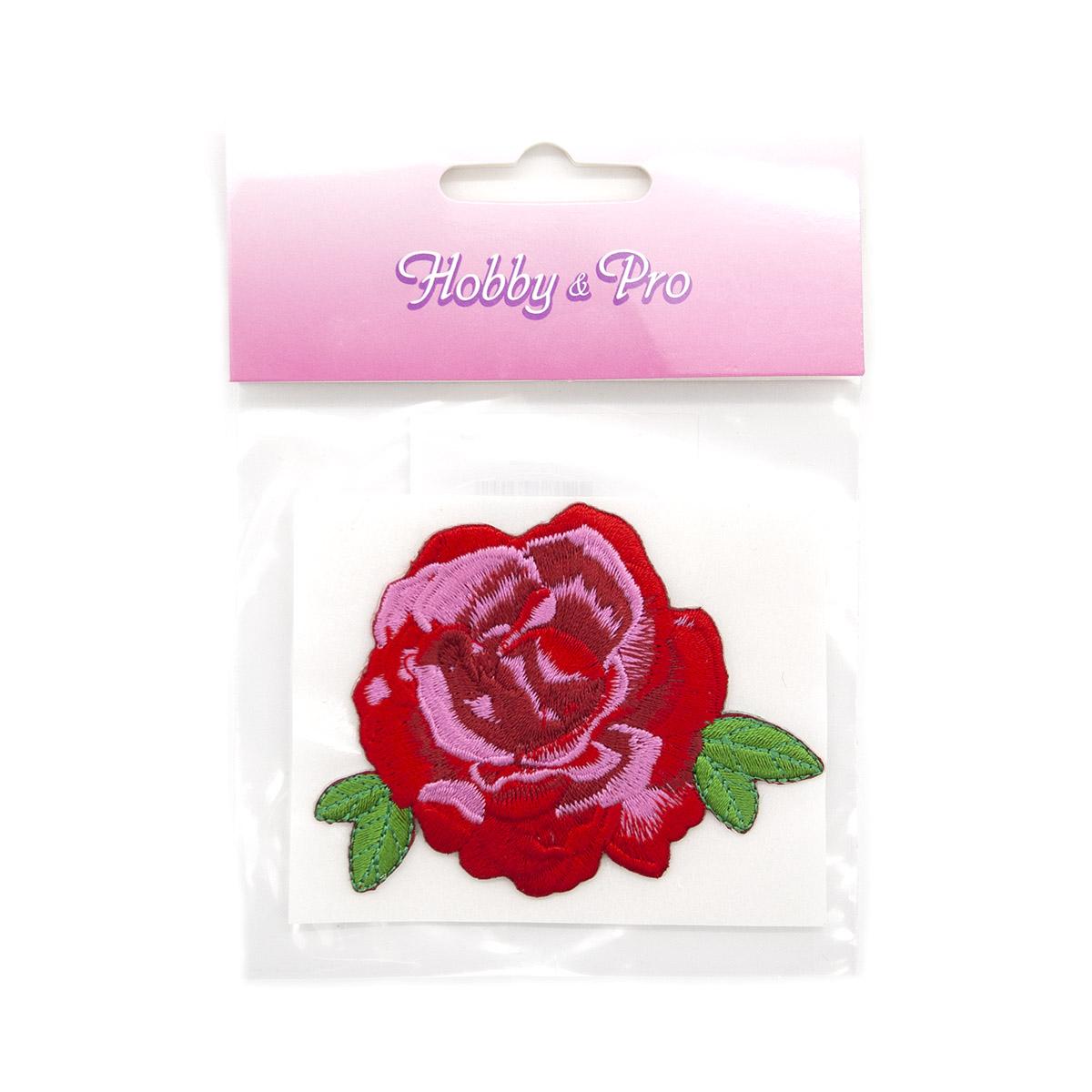 AD1134 Термоаппликация 'Роза', 6*6 см, Hobby&Pro