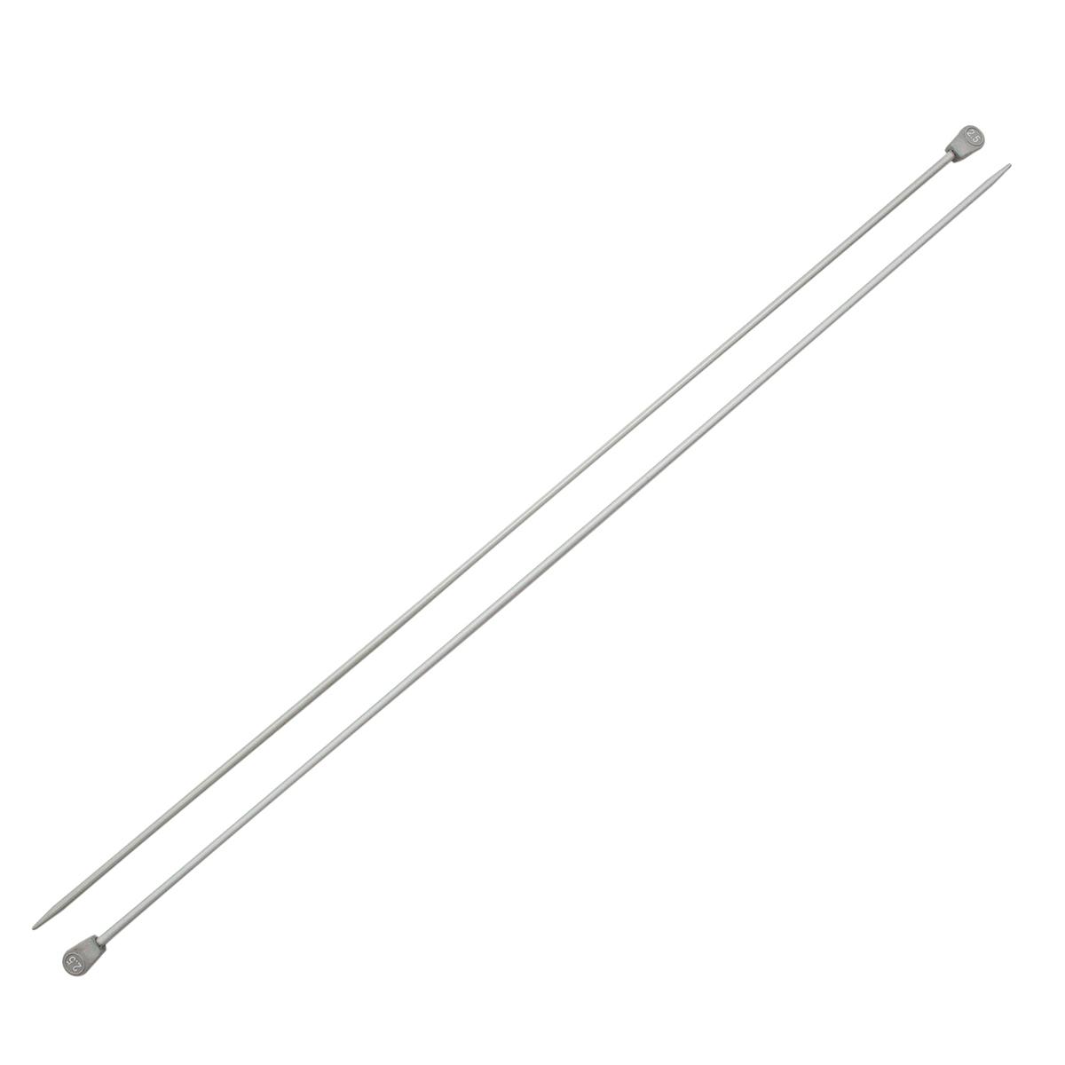 Спицы прямые алюминиевые с покрытием 940225, 35 см, 2,5 мм, Hobby&Pro